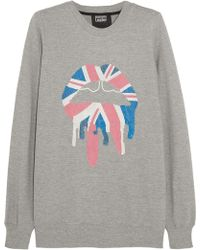 Markus Lupfer Union Jack Drip Lip Sequined Cottonjersey Sweatshirt - Lyst
