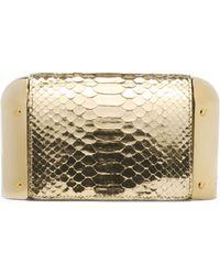 Michael Kors Leyla Python Dome Clutch Bag - Lyst