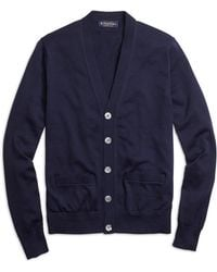 Brooks Brothers Supima Cotton Button-front Cardigan - Lyst