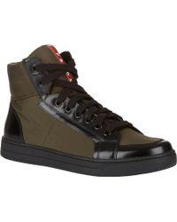 Prada Side-zip Combo Sneakers - Lyst