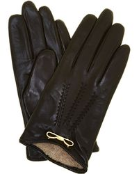 Ted Baker - Metal Bow Leather Touch Screen Gloves - Lyst