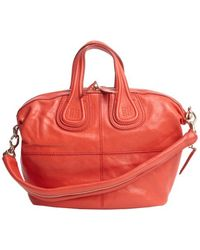 Givenchy Red Lambskin Nightingale Small Convertible Tote - Lyst
