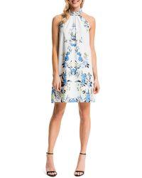 Cynthia Steffe Monte Floral-Print Halter Sheath Dress - Lyst