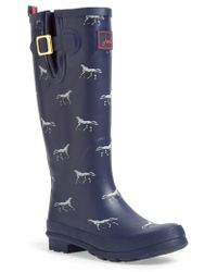 Joules Print Welly Rain Boot - Lyst