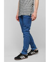 Cheap Monday Coated Soft Blue Skinny Jean - Lyst