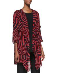 Caroline Rose Red Zone Zebra-print Jacket - Lyst