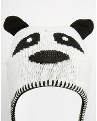 Brave Soul Panda Beanie Hat - Lyst
