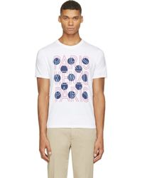 Kenzo White Paris And Dots T_Shirt - Lyst