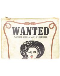 Charlotte Olympia 'Wanted' Clutch - Lyst
