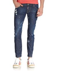 DSquared² Clement Bleached & Painted Tapered Jeans - Lyst