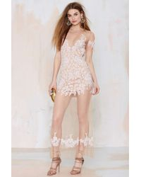 Nasty Gal For Love And Lemons Luau Lace Maxi Dress beige - Lyst
