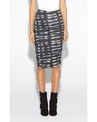 Nicole Miller Sandy Tie Dye Jersey Skirt - Lyst