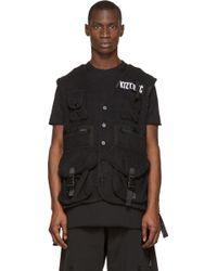 KTZ - Black Terry Cloth Military Vest - Lyst