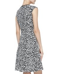 Nanette Lepore Librarian Floral Print Sateen Dress  - Lyst