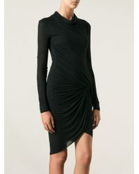 Helmut Lang Slack Draped Dress - Lyst