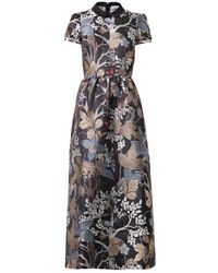 RED Valentino Floral and Owl-jacquard Dress - Lyst