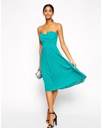 Tfnc Midi Dress with Pleated Skirt - Lyst