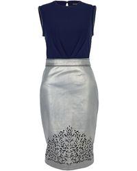 Catherine Deane Susan Leather Laser Cut Bodice Dress - Lyst