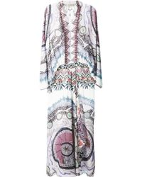 Etro Printed Silk Kaftan Dress - Lyst