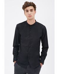 21men Mandarin Collar Shirt 21 Men - Lyst