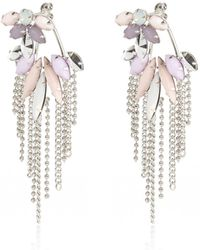 River Island Pastel Gem Chandelier Front And Back Earrings silver - Lyst