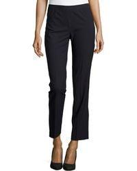 Lafayette 148 New York Wool-blend Slim-leg Pants - Lyst