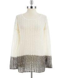 DKNY Ombre Open Knit Sweater - Lyst