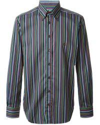 Etro Striped Slim Fit Shirt - Lyst