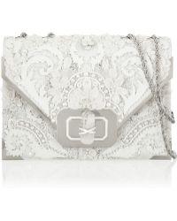 Marchesa - Valentina Embellished Leather Shoulder Bag - Lyst