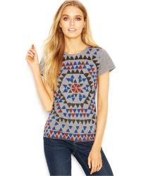 Lucky Brand Jeans Lucky Brand Short-Sleeve Crew-Neck Printed Tee - Lyst