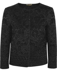 Alberta Ferretti Beaded Silk Covered Macramé Wool Jacket - Lyst