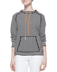 Tory Burch Geraldine Hooded Striped Sweater - Lyst