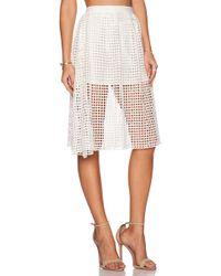 d.RA - Kentucky Mesh Cotton-Blend Skirt - Lyst