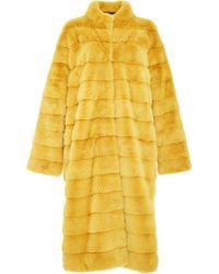 Helen Yarmak International Reversible Stand-up Collar Mink Coat - Yellow
