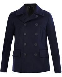 Burberry Prorsum Doublebreasted Cashmere Peacoat - Lyst