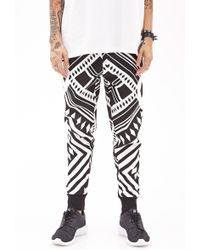 21men Abstract Zig Zag Sweatpants - Lyst