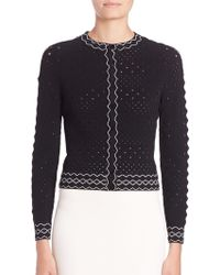 Alexander McQueen | Piped Perforated Cardigan | Lyst