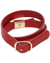 See By Chloé - Bow Wrap Around Leather Bracelet - Lyst