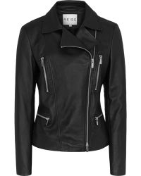 Reiss Flutter Soft Leather Biker Jacket - Lyst