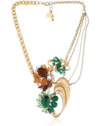 Maria Zureta | Green & Amber Necklace | Lyst