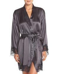 CALVIN KLEIN 205W39NYC - 'fearless' Silk & Lace Robe - Lyst
