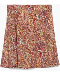 Zara Printed Mini Skirt multicolor - Lyst