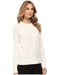 Kate Spade Fluffy Wool Sequin Sweater - Lyst