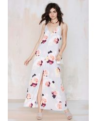 Nasty Gal Keepsake Recover Maxi Dress gray - Lyst