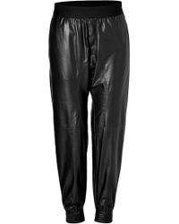 Neil Barrett Leather Jogging Pants - Lyst