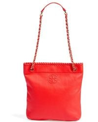 Tory Burch 'Marion' Swingpack red - Lyst