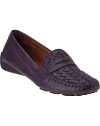 Robert Zur Petra Penny Loafer Eggplant Leather - Lyst