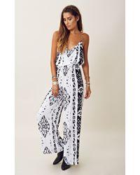 Indah Cowl Neck Printed Jumpsuit - Lyst