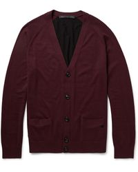 Marc By Marc Jacobs Colourblock Silk Cotton and Cashmereblend Cardigan - Lyst