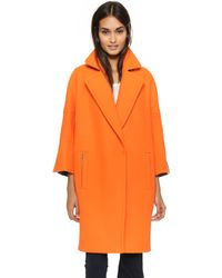 Kaufman Franco - Double Face Coat - Orange/heather - Lyst